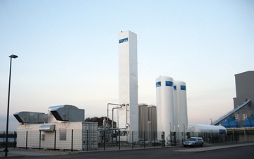 CRYOSS-N, Minigan 2200. This plant supplies E-glass in Osterweddingen.